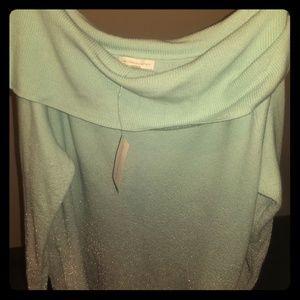 Silver/Powder blue sweater, NY & Company, XL